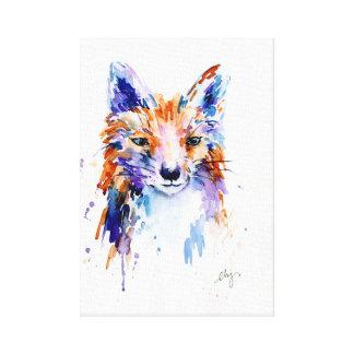 Impressão abstrato das canvas do retrato da raposa