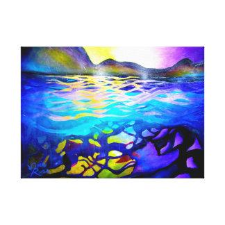 Impressão abstrato das canvas do Seascape