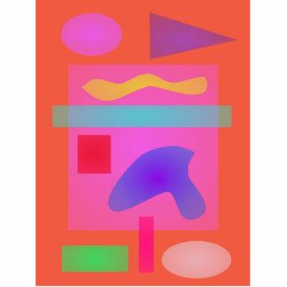 Impressão alaranjado do minimalismo escultura foto