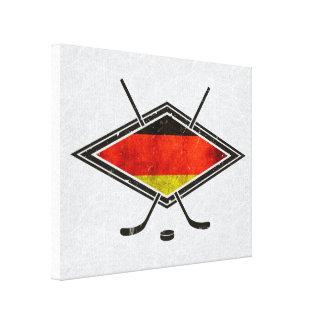 Impressão alemão da bandeira do hóquei em gelo
