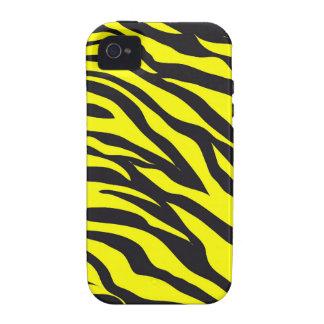 Impressão amarelo corajoso do animal selvagem das  capinhas para iPhone 4/4S