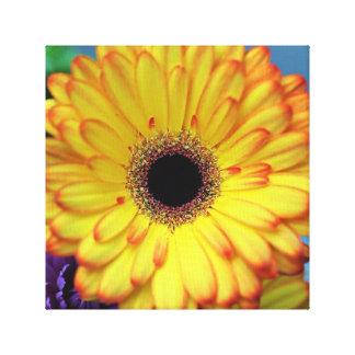 Impressão amarelo das canvas da flor