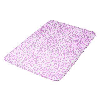 Impressão animal da chita cor-de-rosa de néon tapete de banheiro