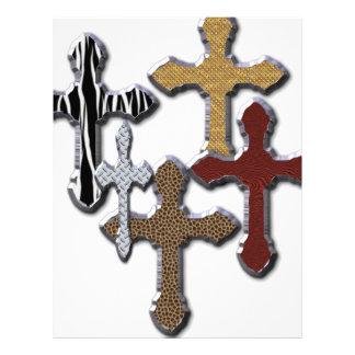 Impressão animal da colagem das cruzes mais o desi papel de carta