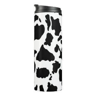 Impressão animal da pele preto e branco da vaca