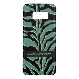 Impressão animal da zebra do verde prudente capa Case-Mate samsung galaxy s8