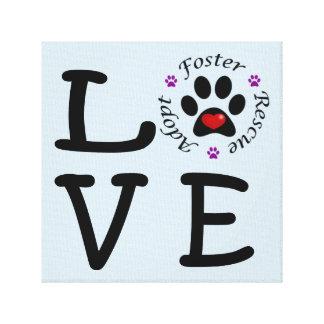 Impressão animal das canvas do amor do salvamento