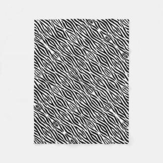 Impressão animal das listras preto e branco na cobertor de lã