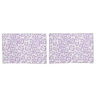 Impressão animal de Kawaii do leopardo roxo Pastel