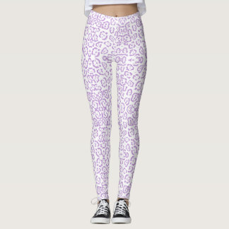 Impressão animal de Kawaii do leopardo roxo Pastel Legging