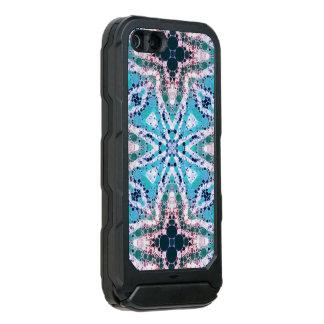 Impressão animal de turquesa rústica capa incipio ATLAS ID™ para iPhone 5