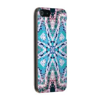 Impressão animal de turquesa rústica capa incipio feather® shine para iPhone 5