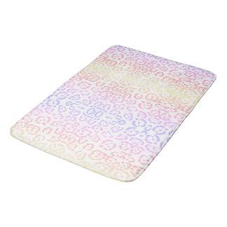 Impressão animal do arco-íris Pastel do leopardo Tapete De Banheiro