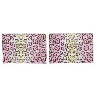 Impressão animal do gato rosa pálido do pop art da