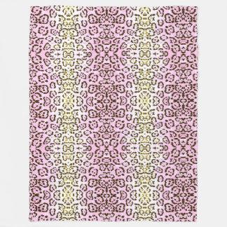 Impressão animal do gato rosa pálido do pop art da cobertor de lã