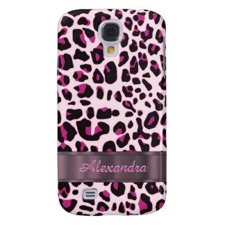 Impressão animal do leopardo bonito personalizado capas samsung galaxy s4