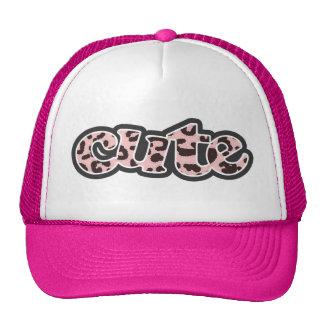 Impressão animal do leopardo do rosa de bebê boné