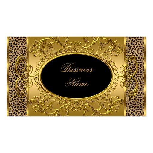 Impressão animal do leopardo elegante elegante do  cartão de visita