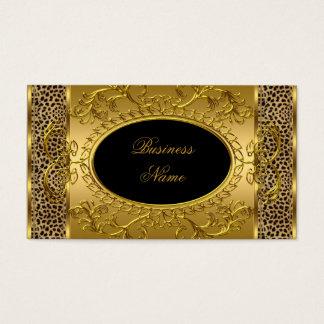 Impressão animal do leopardo elegante elegante do cartão de visitas