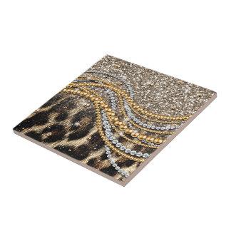 Impressão animal do leopardo feminino na moda