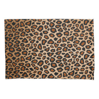Impressão animal do leopardo no cobre do ouro