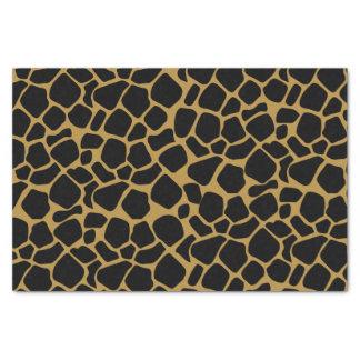 Impressão animal do ponto do girafa papel de seda