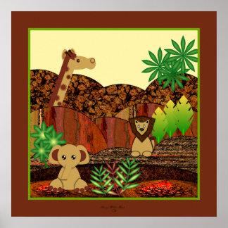 Impressão animal do safari