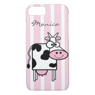 Impressão animal feminino de sorriso da vaca capa iPhone 7