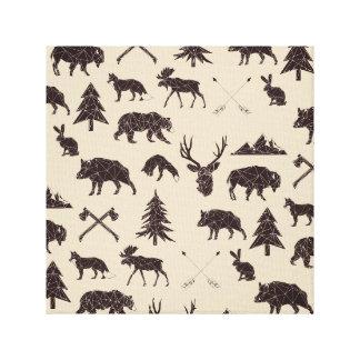 Impressão animal geométrico das canvas dos animais