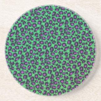 Impressão animal impresso fluorescente de Bling Porta Copos De Arenito