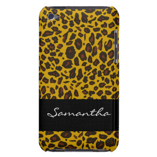 Impressão animal personalizado do leopardo capa para iPod touch