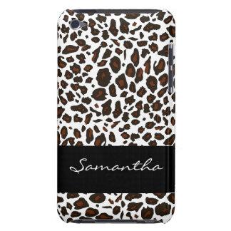 Impressão animal personalizado do leopardo de neve capa para iPod touch