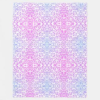 Impressão animal roxo cor-de-rosa 2 do gato de cobertor de lã