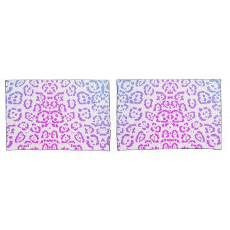 Impressão animal roxo cor-de-rosa do gato de