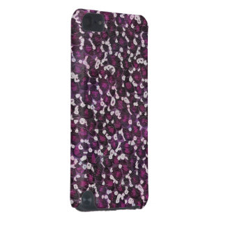 Impressão animal roxo pintado capa para iPod touch 5G