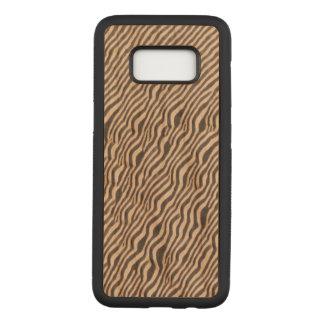Impressão animal - zebra - caixa da madeira da capa carved para samsung galaxy s8