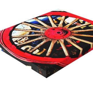 Impressão armado das canvas da roda impressão de canvas envolvida