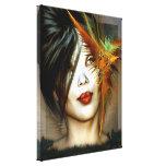 Impressão asiático das canvas da beleza impressão de canvas envolvida