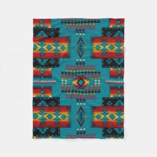 Impressão asteca do diamante AZUL Cobertor De Lã