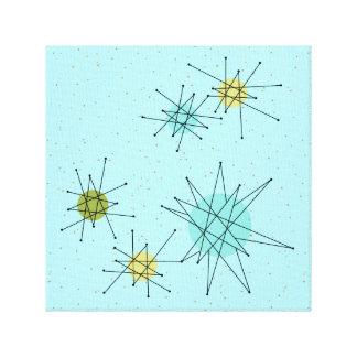 Impressão atômico azul das canvas de Starbursts do