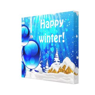 Impressão azul 2 das canvas do inverno impressão de canvas envolvida