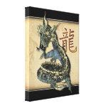 Impressão azul chinês das canvas do dragão impressão em tela canvas