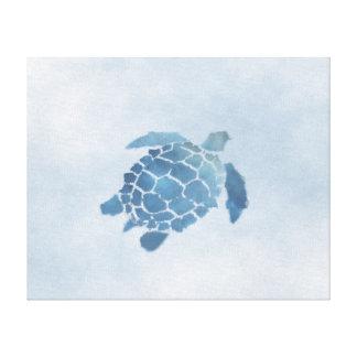"""Impressão azul das canvas da tartaruga (20"""" x16"""")"""