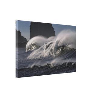 Impressão azul das canvas das ondas de oceano