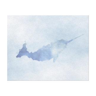 """Impressão azul das canvas de Narwhal (20"""" x16"""")"""