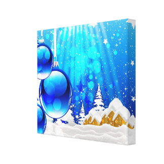 Impressão azul das canvas do inverno impressão de canvas esticadas