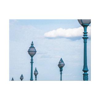 Impressão azul das canvas dos lampposts