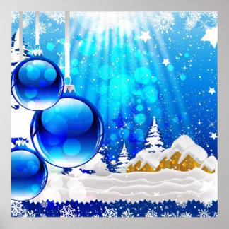 Impressão azul do inverno