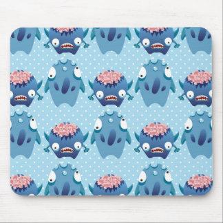 Impressão azul do monstro das bolinhas mousepads