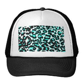 Impressão azul e preto da luz - do leopardo boné